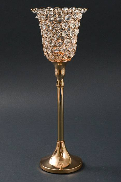 16 5 Quot Crystal Candle Holder Gold Gandgwebstore Com