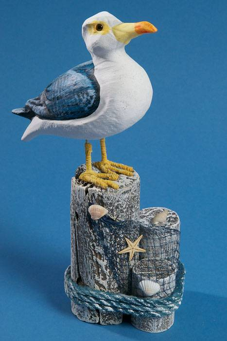 10 5 Quot Standing Seagull Blue White Gandgwebstore Com