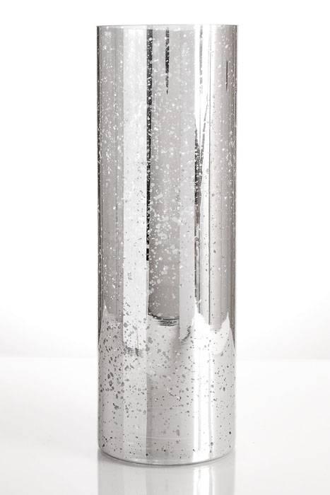 4 Quot X 12 Quot Mercury Glass Cylinder Vase Silver