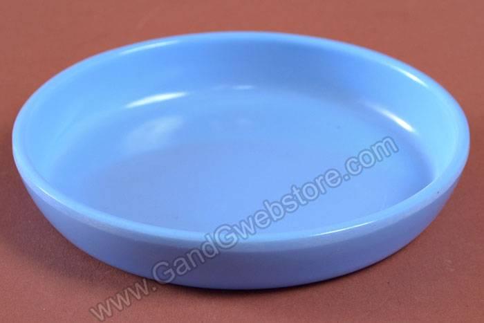 3 5 Quot Round Plastic Saucer Blue Gandgwebstore Com