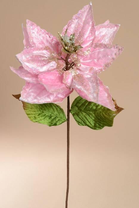 30 Quot Poinsettia Stem Light Pink Gandgwebstore Com