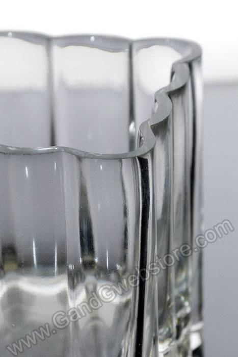 """4"""" X 4&... Decorative Clear Glass Vases"""