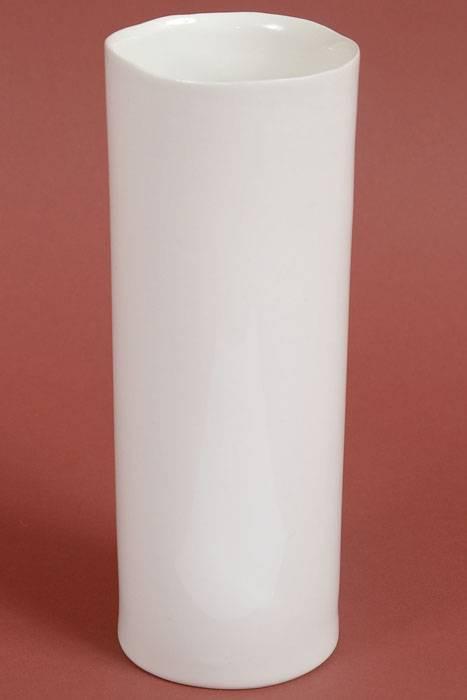 3 5 Quot X 9 5 Quot Ceramic Cylinder Brooklyn Vase White Gandgwebstore Com