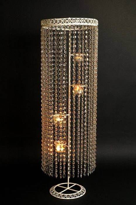 Bead hanging 4 votive candle holder clear for Hanging votive candles