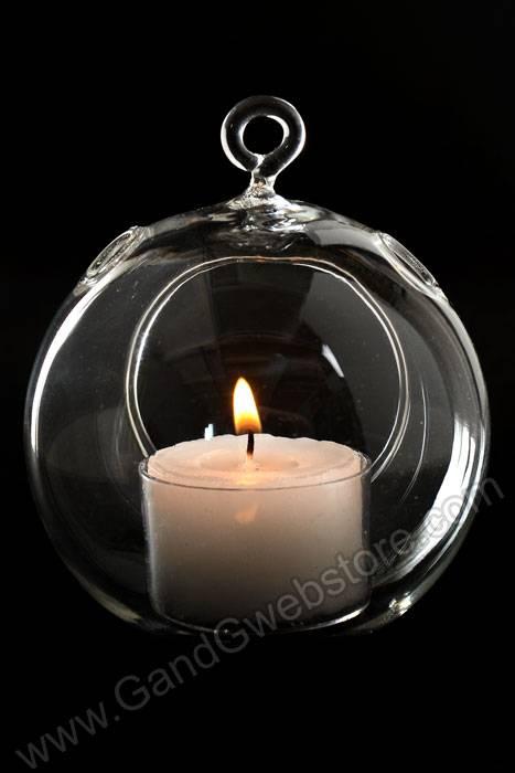 3 75 Quot Hanging Candle Holder Round Glass Terrarium Pkg 6