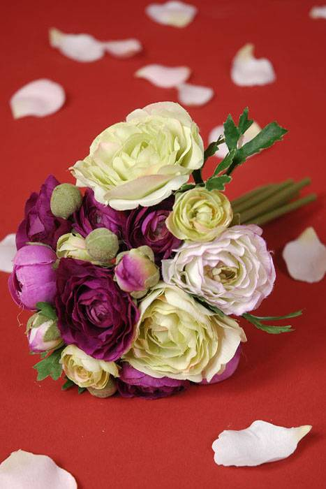 Quot ranunculus bouquet purple green gandgwebstore