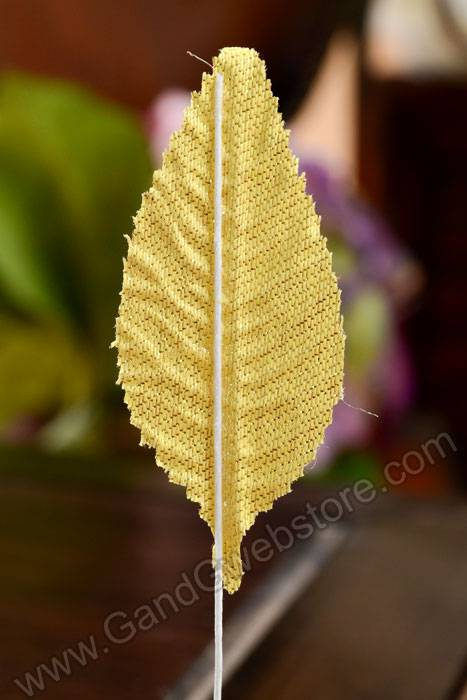 5 u0026quot  emko non wilt lame leaves gold pkg  50