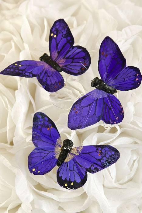 3 Butterfly Purple Pkg 12