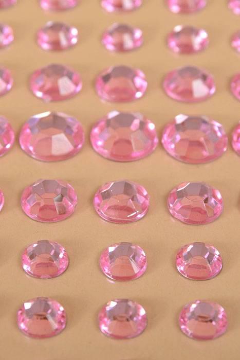 Decorative Rhinestone Stickers : Quot round rhinestone sticker pink pkg