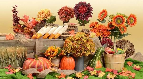 Fall Autumn Silk Flowers