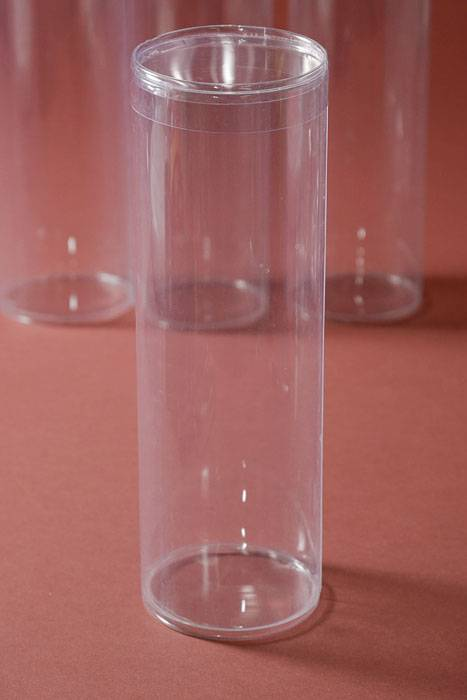 3 Quot X 9 Quot Plastic Cylinder Box Clear Pkg 6 Gandgwebstore Com