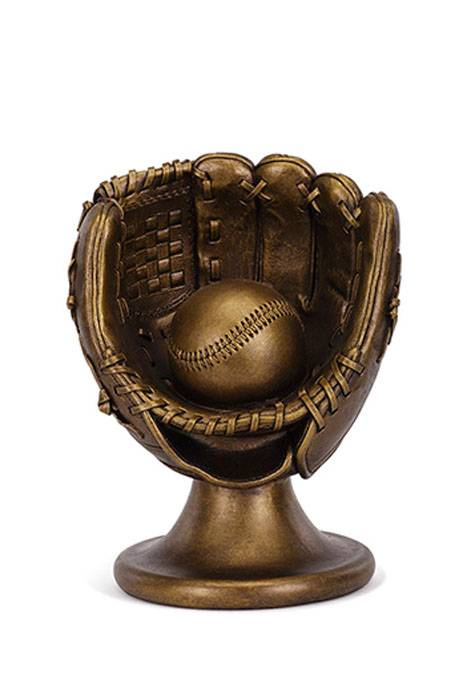 8 5 Quot Baseball Glove And Ball On Stand Bronze Gandgwebstore Com