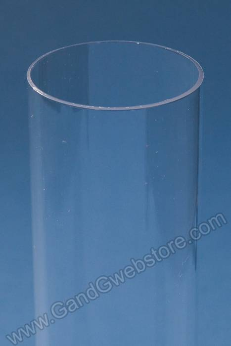6 Quot Plastic Cylinder Tube Clear Pkg 6 Gandgwebstore Com