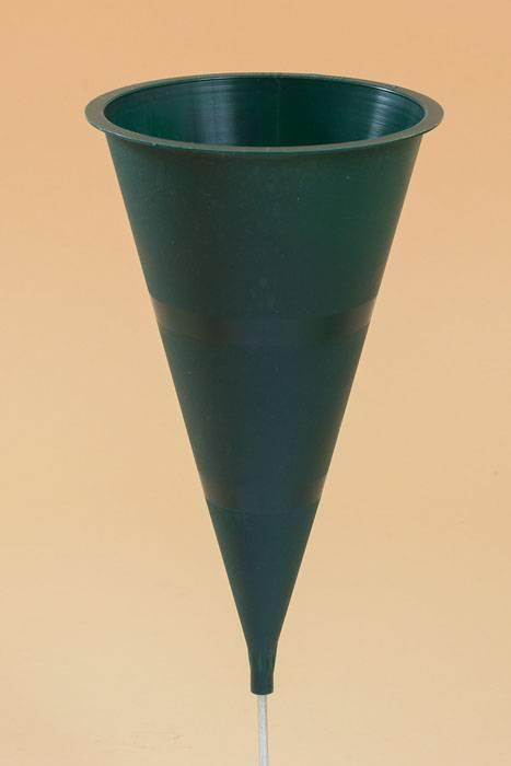 9 5 Quot Plastic Cone Vase Green Gandgwebstore Com