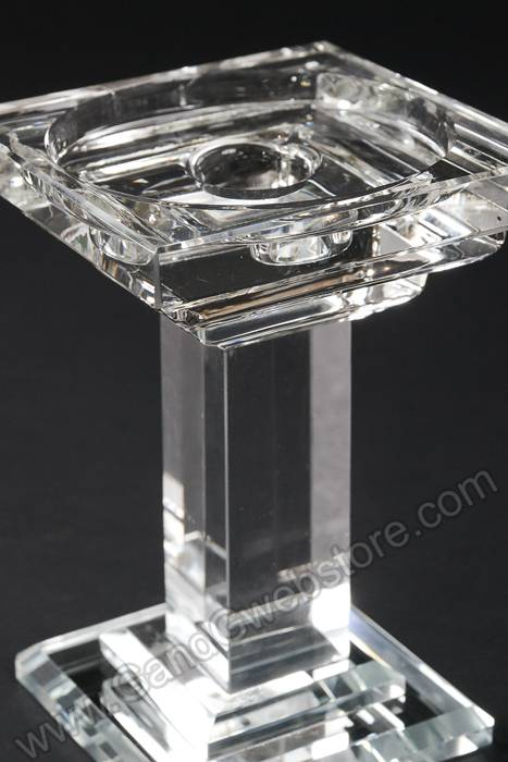 5 25 Quot Square Crystal 1 Lite Candle Holder Clear Gandgwebstore Com