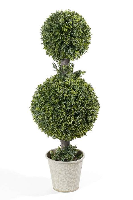 32 Quot Tea Leaves Double Ball Topiary Green Gandgwebstore Com