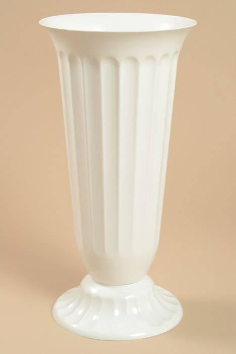 7 5 Quot X 15 5 Quot Plastic Vase White Gandgwebstore Com