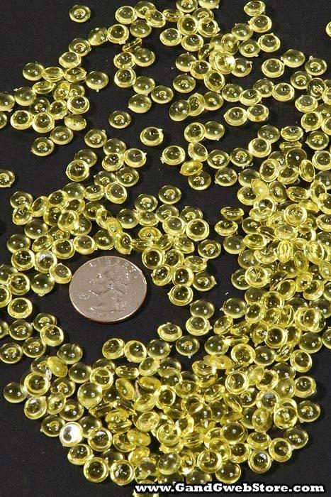 Mini Plastic Pebbles Yellow Pkg 1lb