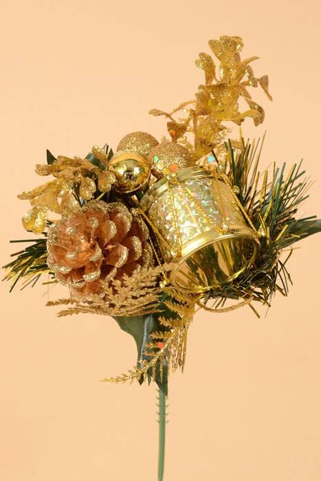 8 Quot Pine Cone Ball Drum Pick Gold Pkg 12 Gandgwebstore Com