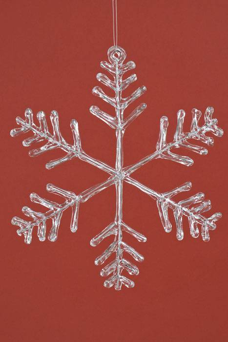 12 Quot Acrylic Snowflake Hanging Ornament Clear