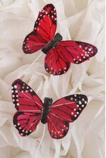 """2"""" BUTTERFLY RED PKG/12"""
