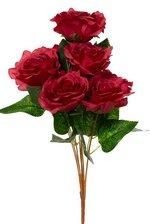 """19"""" GARDEN ROSE BUSH RED"""
