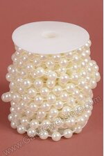 12MM X 10YDS PEARL GARLAND IVORY