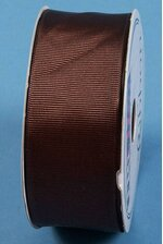 """1.5"""" X 15YDS GROSGRAIN WIRED RIBBON CHOCOLATE"""