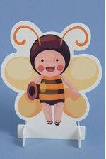 """16"""" WOOD STAND SHAPE BEE"""