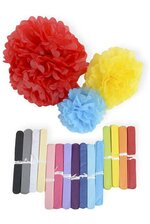 "12"" TISSUE PAPER POM POM FLOWER BALL"