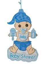 "17"" BABY FOAM SIGN BLUE PKG/3"