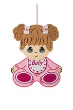 """15.5""""H BABY SHOWER BABY GIRL FOAM SIGN PINK"""