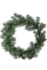 """17"""" HUDSON VALLEY WREATH TWO TONE GREEN"""