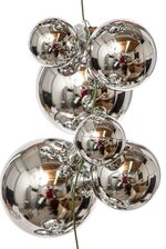 6FT BALL GARLAND SHINY SILVER