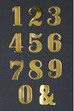 """1.5"""" LARGE PAPER NUMBER GOLD PKG/25"""