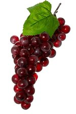 """12"""" ROUND GRAPE CLUSTER RED"""
