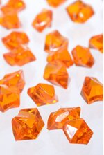 LARGE ACRYLIC CUBE ORANGE PKG/1LB