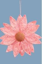 "13.5"" HANGING PAPER FLOWER LIGHT PINK"