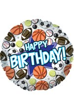 "18"" BALLOON HAPPY BIRTHDAY SPORTS PKG/10"