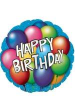 """18"""" ROUND FOIL BALLOON HAPPY BIRTHDAY PKG/10"""