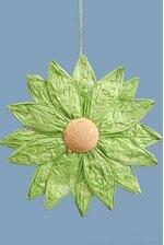 "13.5"" HANGING PAPER FLOWER GREEN"