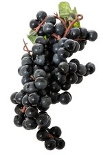 "6"" MINI ROUND GRAPE CLUSTER BLACK PKG/3"