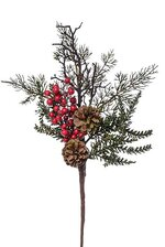 20'' PINE/PINE CONE/BERRY SPRAY RED/BROWN/GREEN