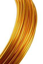 2MM X 10YDS ALUMINIUM WIRE GOLD