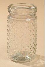 """3.75"""" X 7"""" GLASS HOBNAIL JAR CLEAR"""