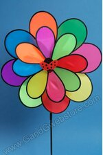 "21"" FABRIC DOUBLE PINWHEEL MULTICOLOR"