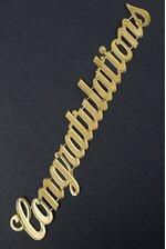 """1.5"""" LARGE PAPER """"CONGRATULATIONS"""" GOLD PKG/10"""