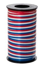 "3/8"" X 250YDS TRI-COLOR RIBBON RED/WH/BLUE"