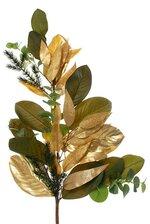 "33"" MAGNOLIA LEAF/EUCALYPTUS/PINE DOOR SWAG GREEN/GOLD"