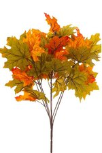 "17"" MAPLE LEAF BUSH GREEN/ORANGE"
